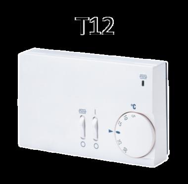 Thermostaat T12 2 ventilatorsnelheden/schakelaar dagelement